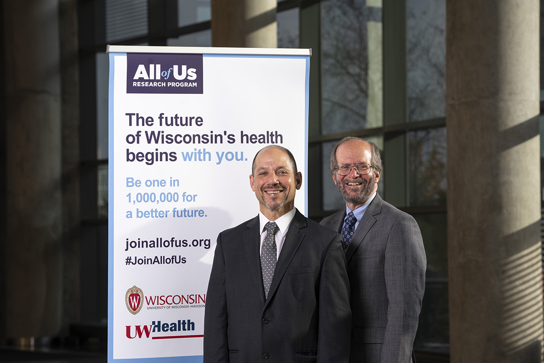 UW Health CEO Dr. Alan Kaplan (left) and UW-Madison School of Medicine and Public Health Dean Dr. Robert Golden